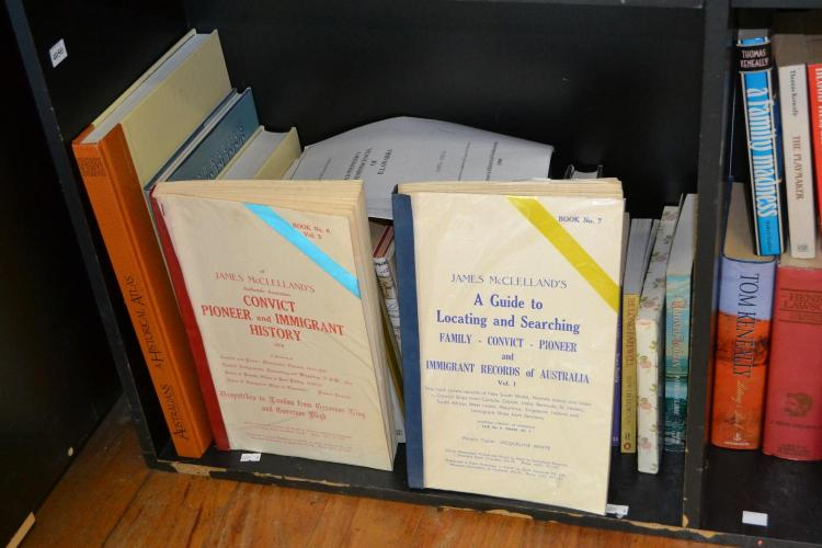SHELF OF AUSTRALIAN HISTORY, PREDOMINANTELY NSW, INCLUDING A GUIDE TO LOCATING AND SEARCHING FAMILY CONVICT- PIONEER AND IMMIGRANT R...