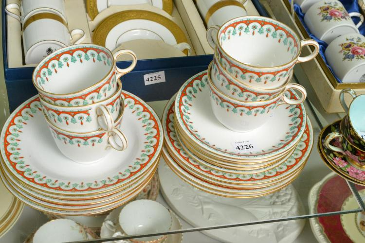 A COPELAND TEA SET FOR SIX