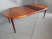 TWO LEAF ROSEWOOD EXTENSION DINING TABLE 71 x 219 x 120cm