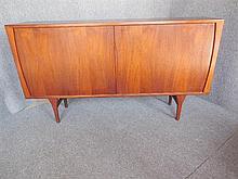 DANISH BRUNO HANSEN TAMBOUR FRONT TEAK SIDEBOARD 111 x 200 x 45cm