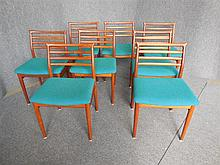 DANISH SET OF EIGHT ERLING TORVITS TEAK DINING CHAIRS