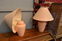 A PAIR OF TABLE LAMPS (A/F)