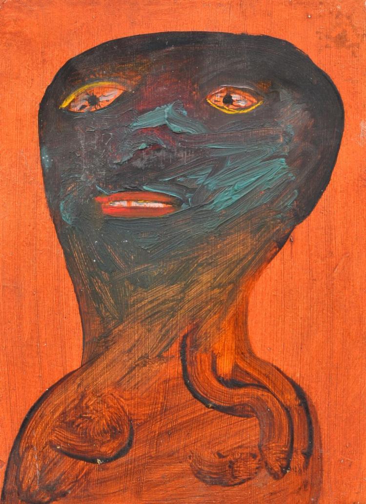 ANNE HALL (born 1945) Portrait Study VI oil on composition board