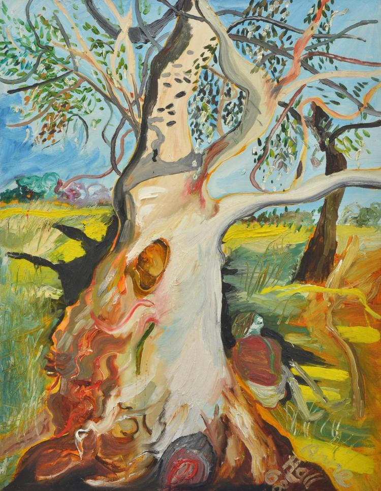 ANNE HALL (born 1945) Resting Under the Red Gum 1968 oil on canvas