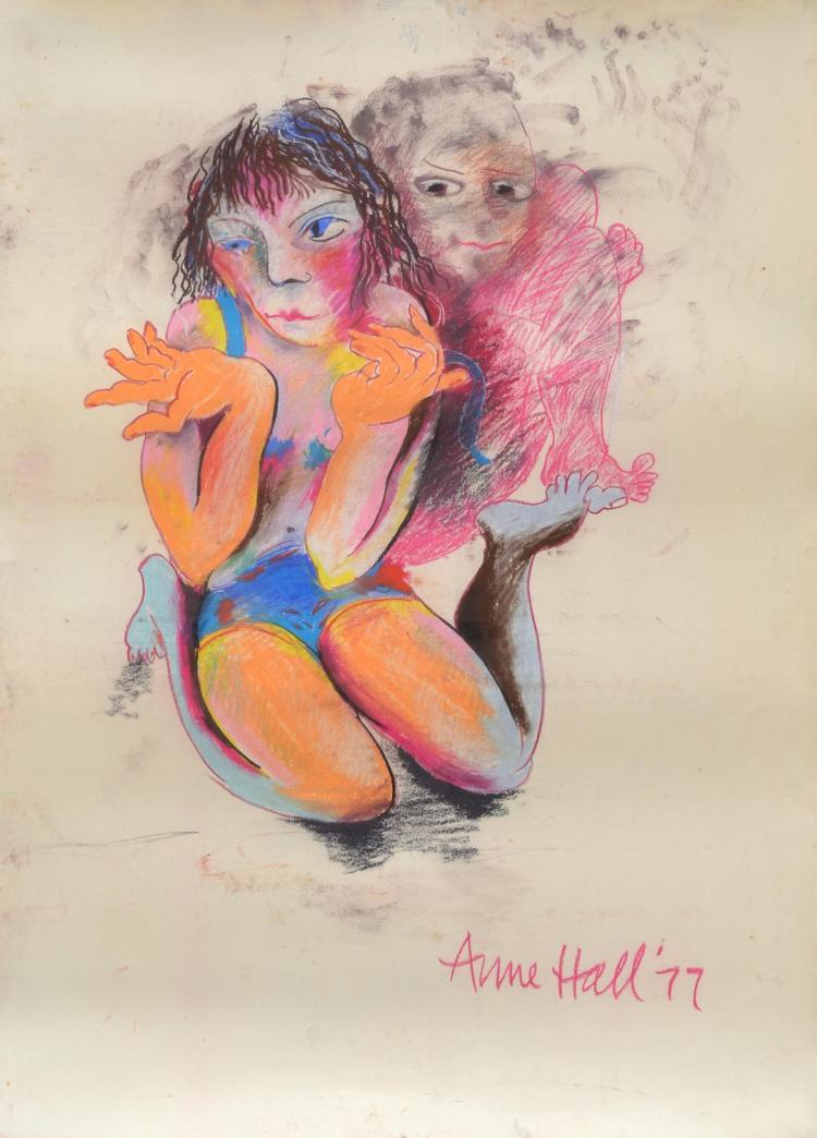 ANNE HALL (born 1945) Female Dancer 1977 pastel on paper