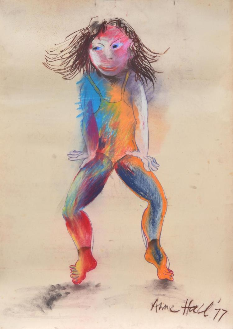 ANNE HALL (born 1945) The Dancer 1977 pastel on paper