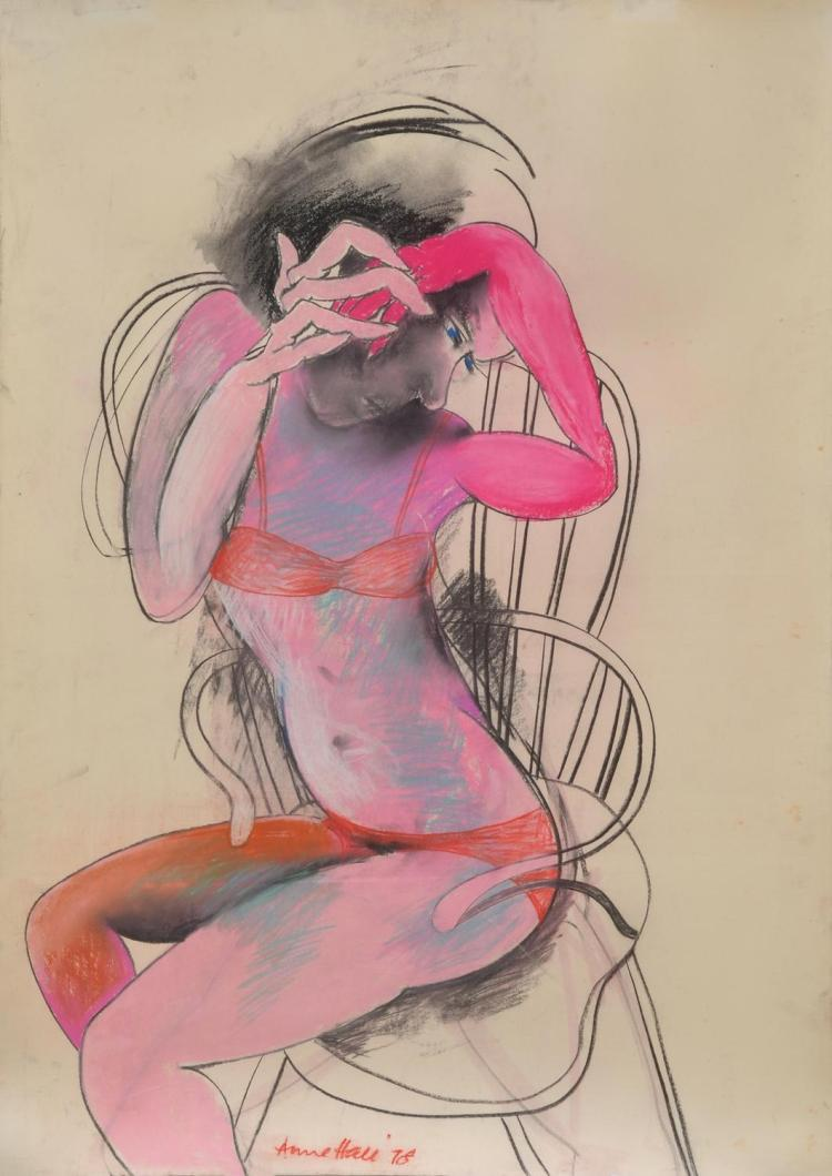 ANNE HALL (born 1945) Woman Seated in Chair 1978 pastel on paper