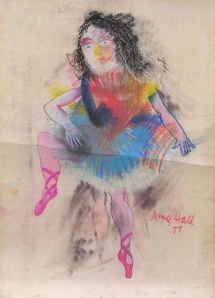 ANNE HALL (born 1945) Rainbow Ballerina 1977 pastel on paper