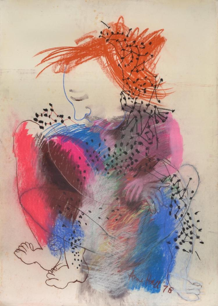 ANNE HALL (born 1945) Entangled 1978 pastel on paper