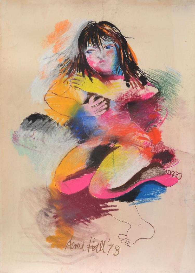 ANNE HALL (born 1945) The Lost Embrace 1978 pastel on paper