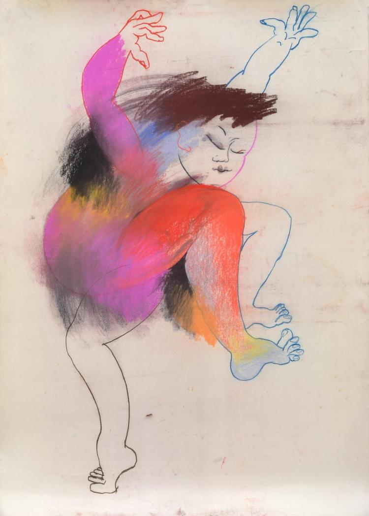 ANNE HALL (born 1945) Figure in Dance pastel on paper