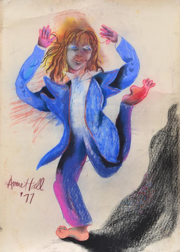 ANNE HALL (born 1945) The Performer 1977 pastel on paper