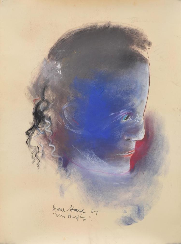 ANNE HALL (born 1945) Mr Murphy 1967 pastel on paper
