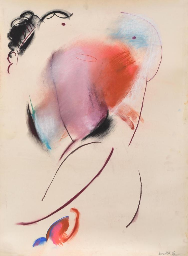 ANNE HALL (born 1945) Abstract Figure Study 1966 pastel on paper