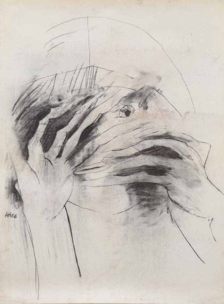ANNE HALL (born 1945) Hidden 1966 charcoal on paper