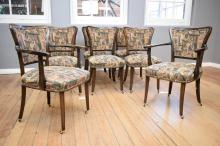 A SET OF EIGHT GERMAN 1930''s DINING CHAIRS INCLUDING TWO CARVERS