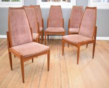 A SET OF SIX 1960''s CHISWELL HIGHBACK DINING CHAIRS