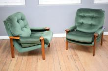 A PAIR OF TESSA T1 ARMCHAIRS BY FRED LOWAN CHAIRS