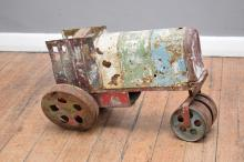 A 19TH CENTURY METAL TRACTOR MODEL