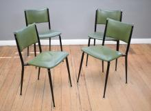 AN ''ULTRA STOOL AND CHAIR COMPANY'' RETRO DINING SETTING