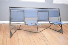 A FOUR SEAT ARISTOC FOLD DOWN BENCH