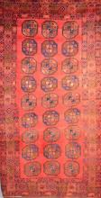 A PERSIAN GHOOCHAN 100% WOOL PILE RUG WITH NATURAL DYES, CIRCA 1960''s, FULLY RESTORED - ORIGIN- IRAN. 302 X 154CM. RRP $2800
