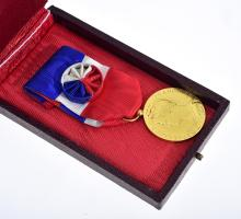 A FRENCH MEDAL ''MINISTERE TRAVAIL ET DE LA SECURITE SOCIALE'', AWARDED TO R.VAUDOIS, 1964, BOXED.