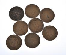 A COLLECTION OF NINE 1946 PENNIES.