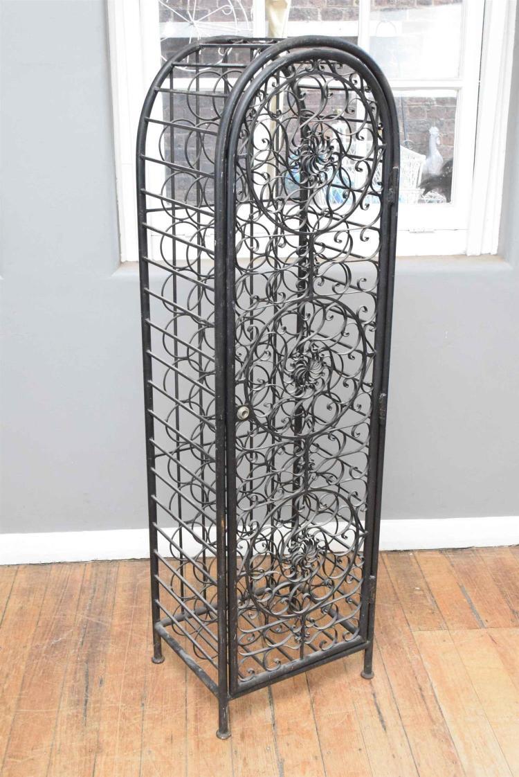 A Decorative Metal Wine Rack