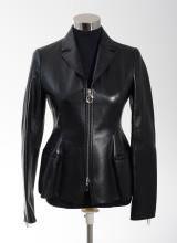 A LEATHER JACKET BY CHRISTIAN DIOR