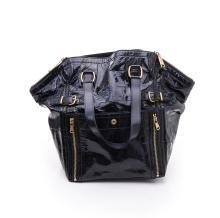 A LARGE DOWNTOWN TOTE BAG BY YVES SAINT LAURENT