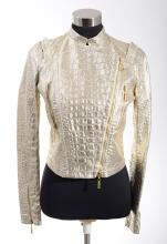 A LEATHER JACKET BY ROBERT CAVALLI