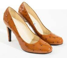 A PAIR OF HEELS BY BALLY