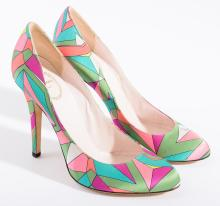 A PAIR OF HEELS BY EMILIO PUCCI