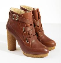 A PAIR OF HEELED BOOTS BY LEOFFLER RANDAL