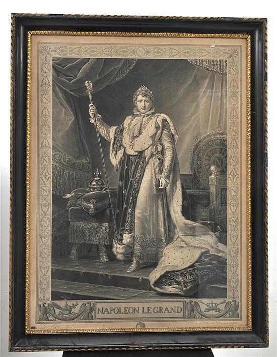 Auguste Boucher Desnoyers (1779-1857) after F. Gerard 1805 Napolean le grand Engraving
