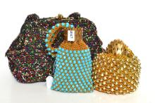 A COLLECTION OF BEADED BAGS INCL. 1960''S DRAW NECKS AND ONE OTHER
