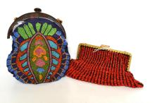 TWO EGYPTIAN REVIVAL BAGS (ONE A/F)