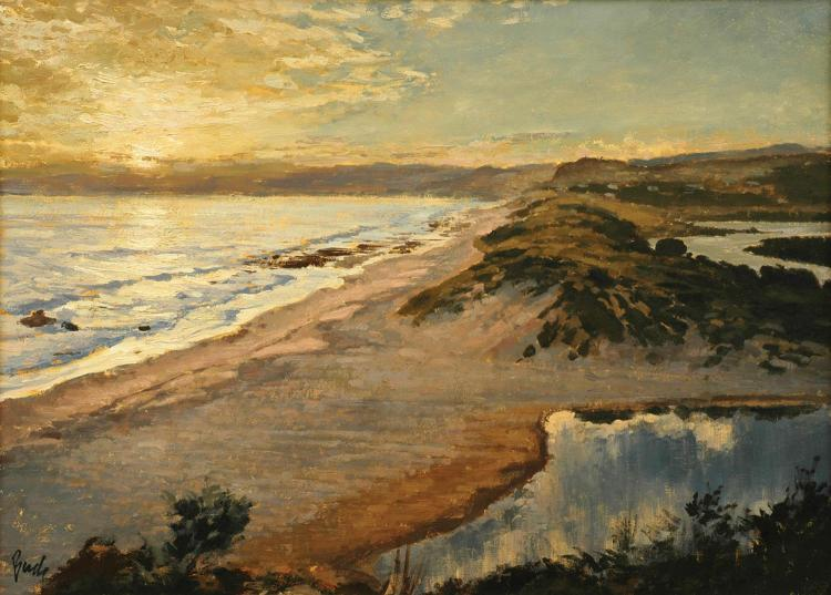 Charles Bush (1919-1989) Last Light Over Lorne oil on canvas