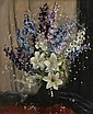 John Loxton (1903-1969) Delphiniums and Lilies oil on canvas, John Loxton, Click for value