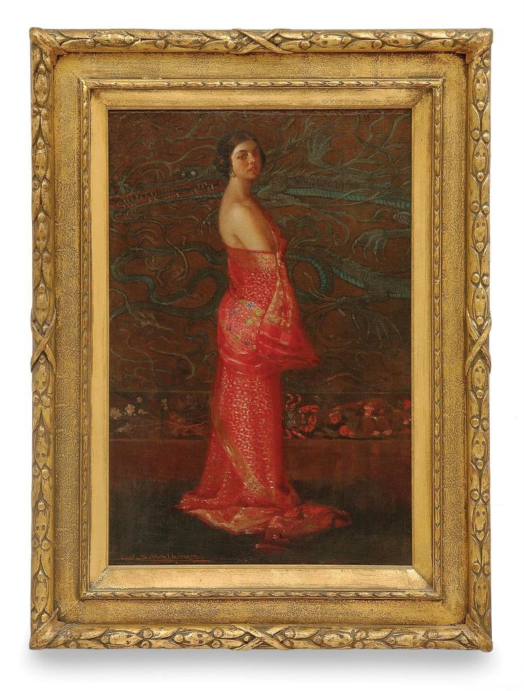 J. S Watkins (1866-1942) The Jewelled Sari oil on canvas laid on board