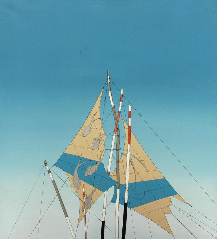 James Willebrant (born 1950) Sails 1980 acrylic on canvas