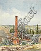 Emma Minnie Boyd (1858-1936) The Mine Shaft, Central Victoria 1883 watercolour, Emma Minnie Boyd, Click for value