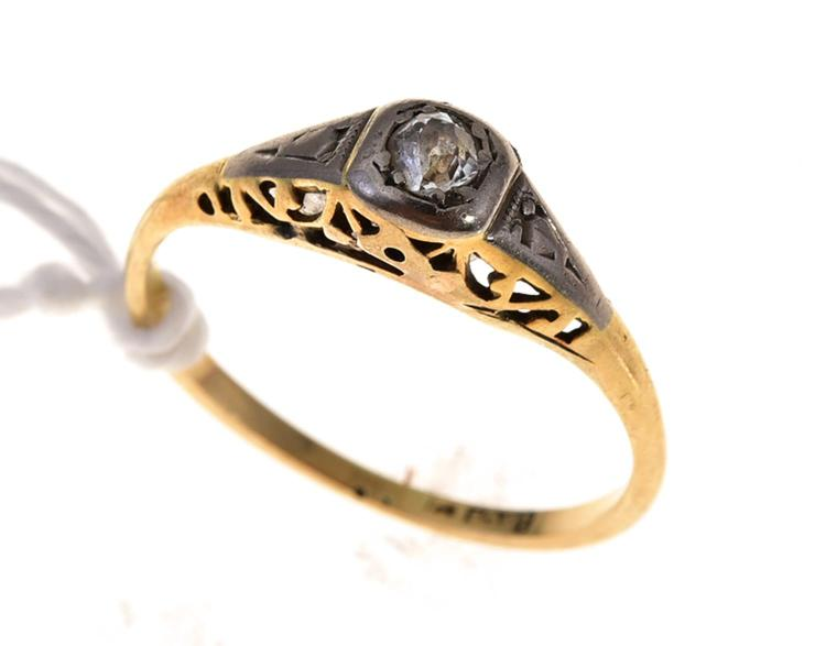 A vintage diamond ring stamped 18ct gold for Diamond stamp on jewelry