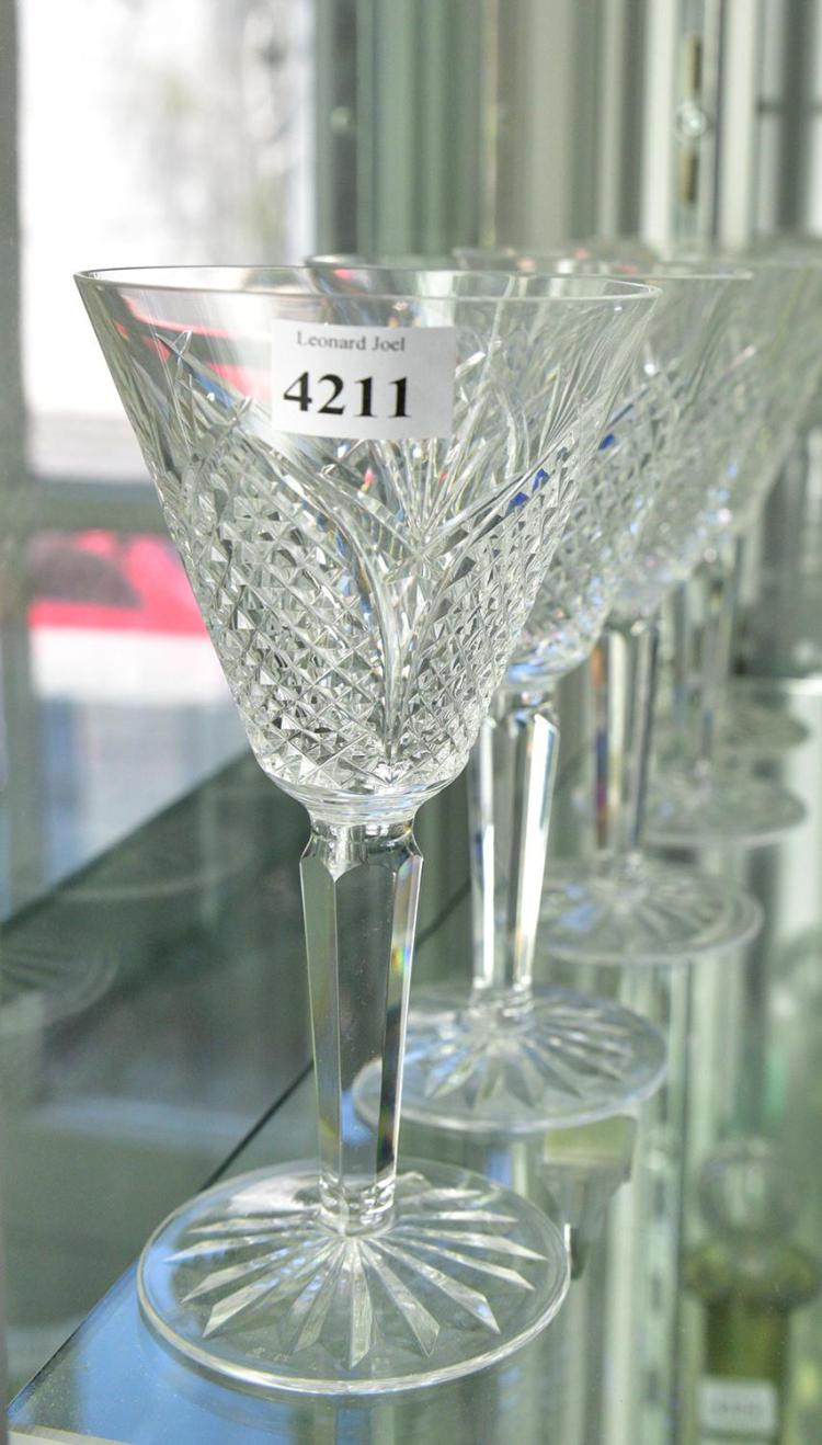 A set of six waterford crystal wine glasses - Wedgwood crystal wine glasses ...