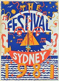 MARTIN SHARP (BORN 1942) The Festival of Sydney 1981 screen print