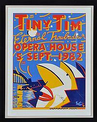 MARTIN SHARP (BORN 1942) Tiny Tim, Eternal Troubadour Opera House 5 Sept 1982 screen print