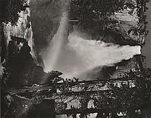 ANSEL ADAMS (AMERICAN, 1902-1984) i. Merced River, Cliffs, Autumn, Yosemite Valley, California, 1939ii. Nevada Fall, Rainbow, Yosemi...