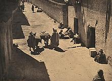 LAURE ALBIN-GUILLOT (FRENCH, 1879-1962) Street in Africa, 1930s Fresson carbon print