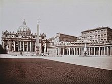 JAMES ANDERSON (ENGLISH, 1813-1877) Rome, St. Peter's Church, 1860 albumen print